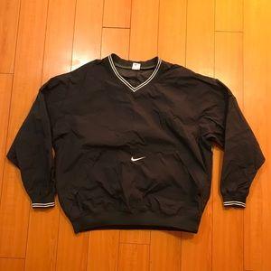 Nike Black Pullover Front Pocket Rainproof Jacket